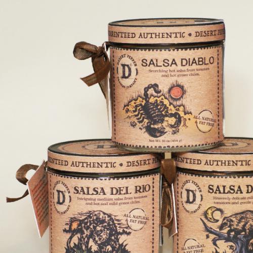 Desert Pepper Salsa Jar Packaging