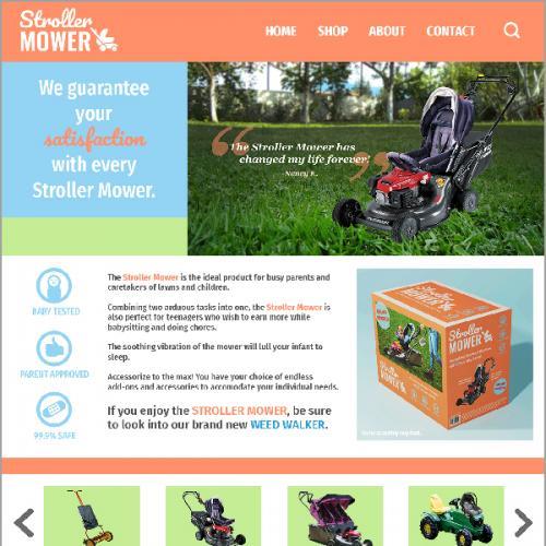 Stroller Mower Branding & Website Mockup