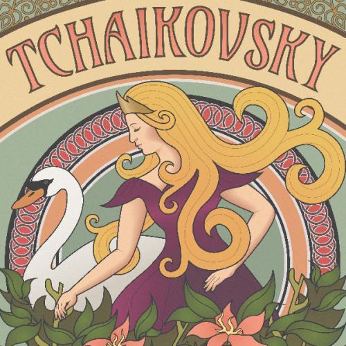 Art Nouveau Tchaikovsky Poster