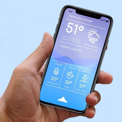 Weather App Mockup
